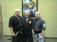 Master Jiles with JudanTed Sumner (center) and Master Dave Hopper in 2007 at the Kenpo Gathering of Eagles