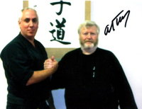 Master Louie Jiles (left) with Grand Master Al Tracy