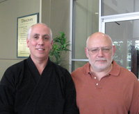 Judan James Stewart (right) with Master Jiles 2009