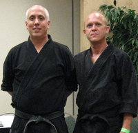Assistant Instructor and Yodan Roger Patterson (right), with Master Jiles