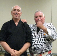 Master Jiles with Judan Roger Greene (right).